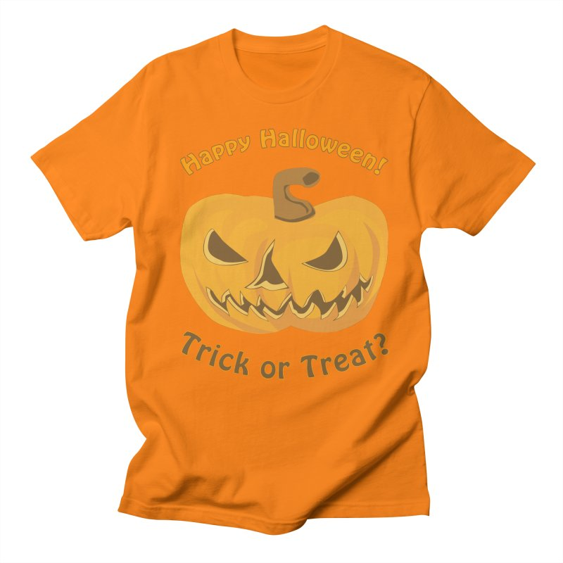 Happy Halloween Pumpkin Men's Regular T-Shirt by Logo Gear & Logo Wear