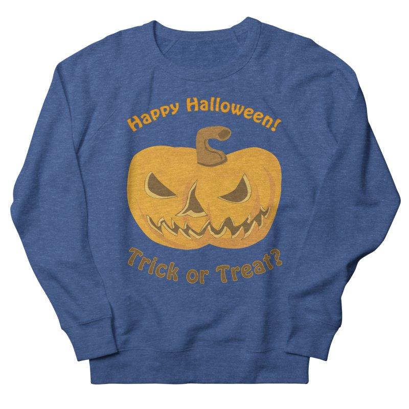 Happy Halloween Pumpkin Women's French Terry Sweatshirt by Logo Gear & Logo Wear