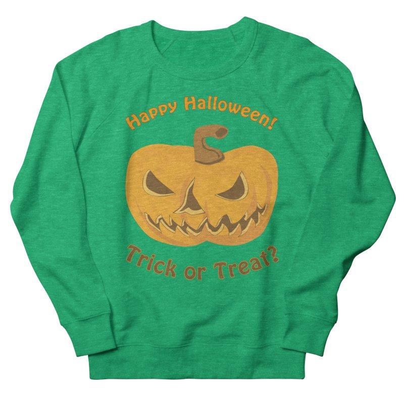 Happy Halloween Pumpkin Men's French Terry Sweatshirt by Logo Gear & Logo Wear