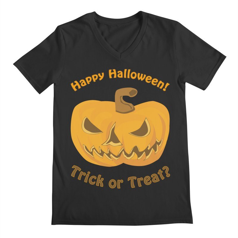 Happy Halloween Pumpkin Men's Regular V-Neck by Logo Gear & Logo Wear