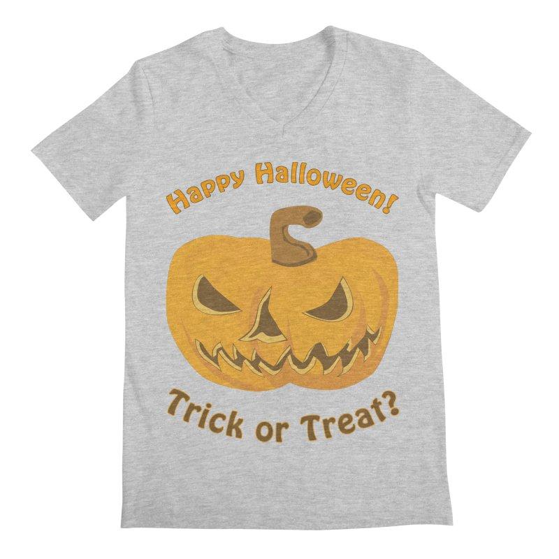 Happy Halloween Pumpkin Men's Regular V-Neck by Logo Gear & Logo Wear