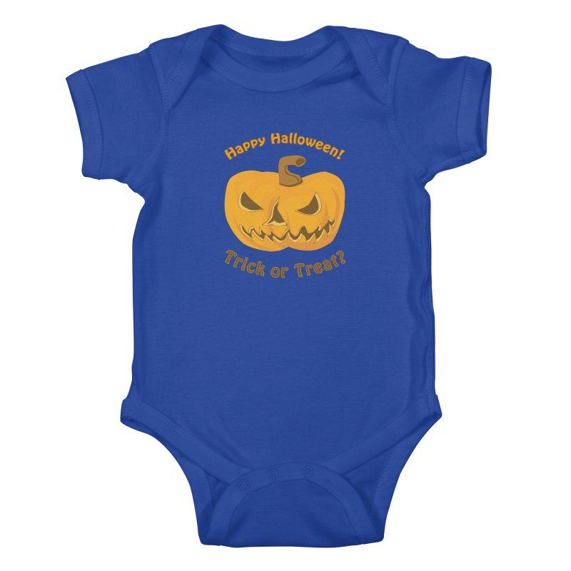 Happy Halloween Pumpkin Kids Baby Bodysuit by Logo Gear & Logo Wear