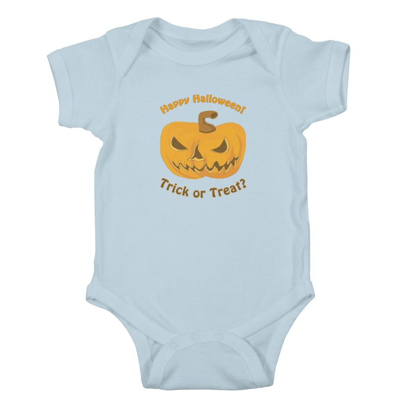 Happy Halloween Pumpkin Kids Baby Bodysuit by Logo Gear & Logo Wear