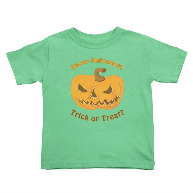 Happy Halloween Pumpkin Kids Toddler T-Shirt by Logo Gear & Logo Wear