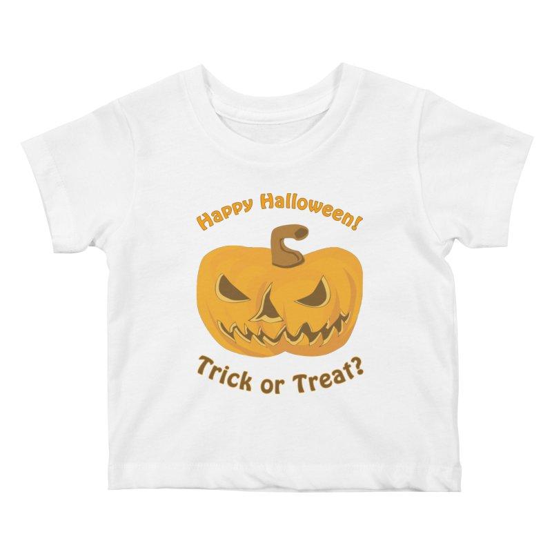 Happy Halloween Pumpkin Kids Baby T-Shirt by Logo Gear & Logo Wear
