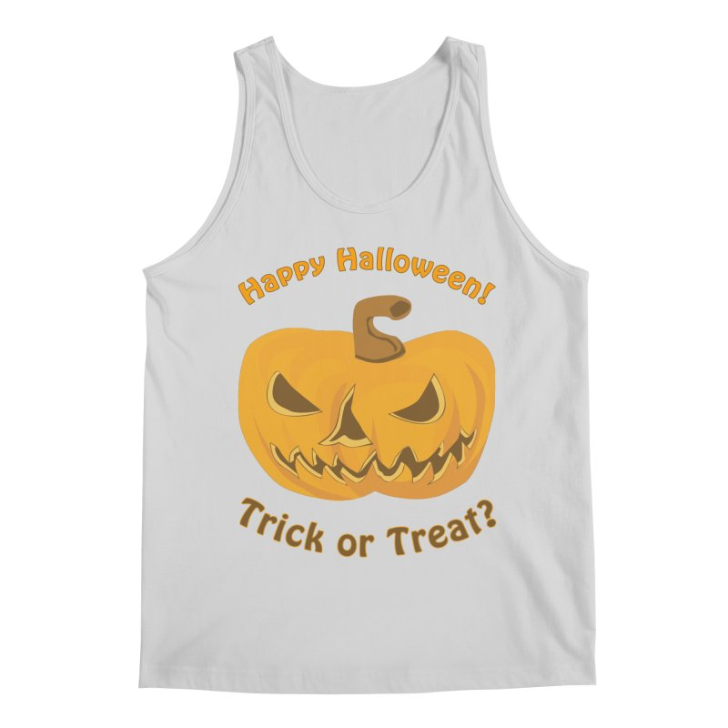 Happy Halloween Pumpkin Men's Regular Tank by Logo Gear & Logo Wear