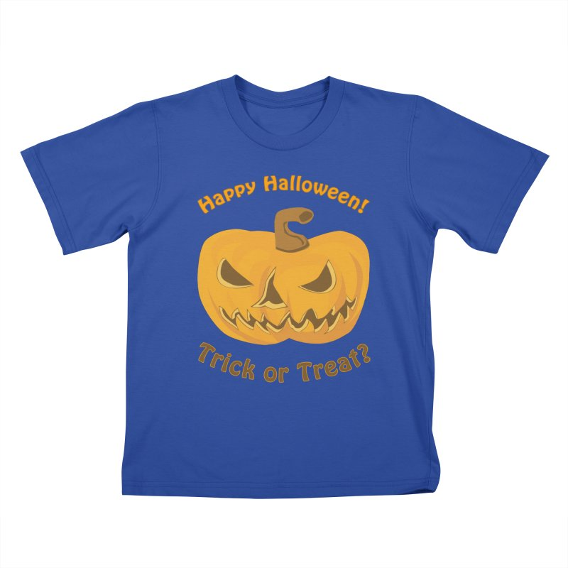 Happy Halloween Pumpkin Kids T-Shirt by Logo Gear & Logo Wear