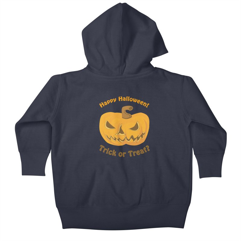 Happy Halloween Pumpkin Kids Baby Zip-Up Hoody by Logo Gear & Logo Wear