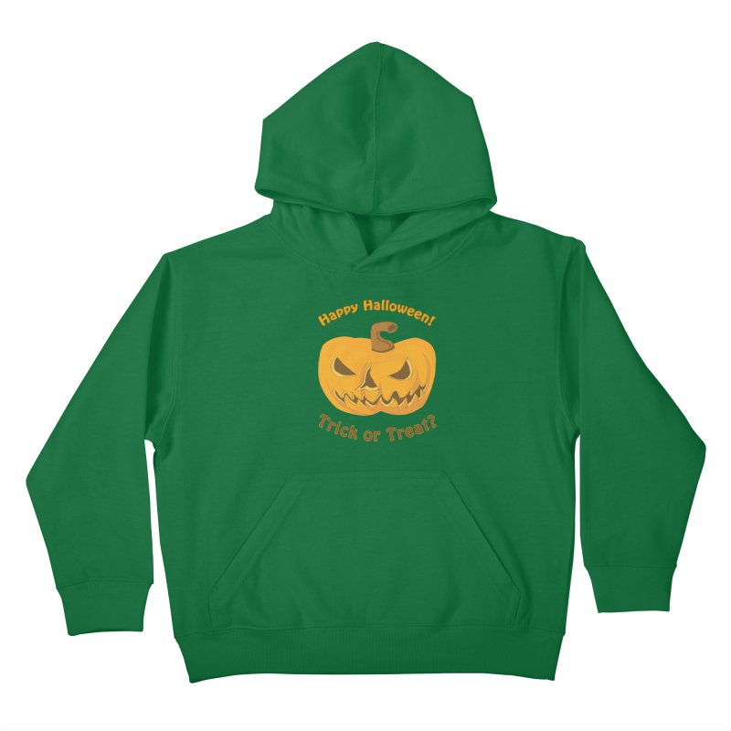 Happy Halloween Pumpkin Kids Pullover Hoody by Logo Gear & Logo Wear