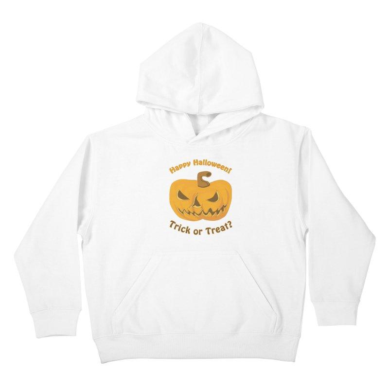 Happy Halloween Pumpkin Kids Pullover Hoody by Logo Gear & Logo Wear