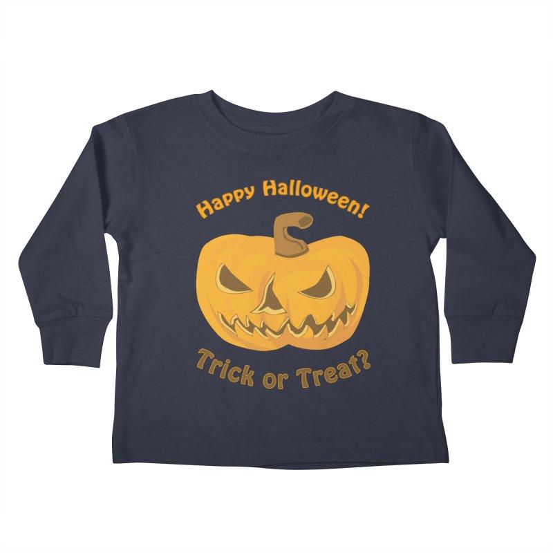 Happy Halloween Pumpkin Kids Toddler Longsleeve T-Shirt by Logo Gear & Logo Wear