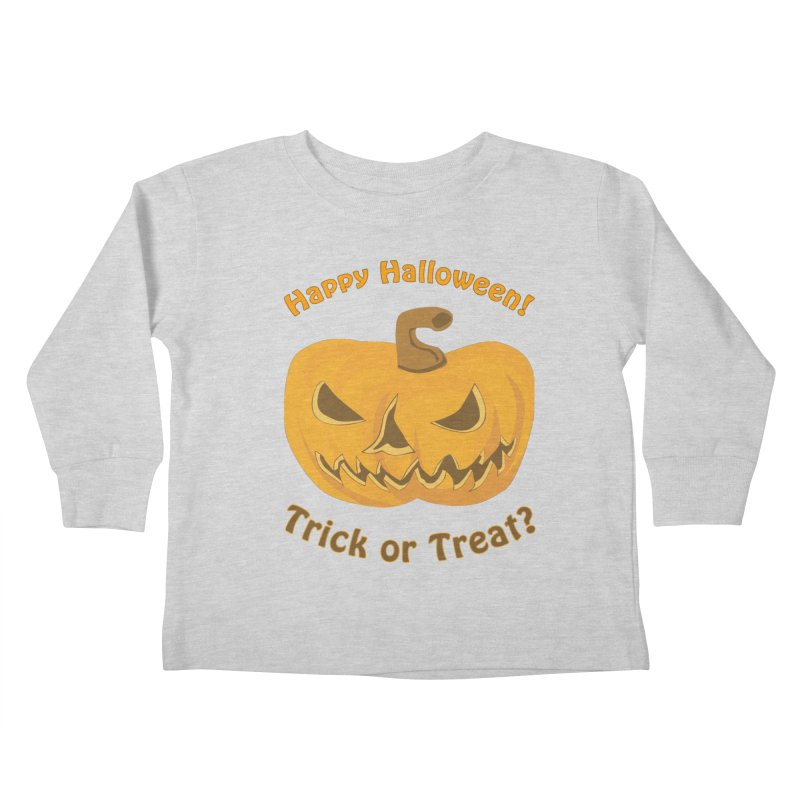 Happy Halloween Pumpkin Kids Toddler Longsleeve T-Shirt by Logo Gear & Logo Wear