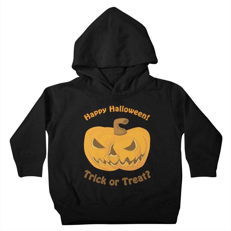 Happy Halloween Pumpkin Kids Toddler Pullover Hoody by Logo Gear & Logo Wear