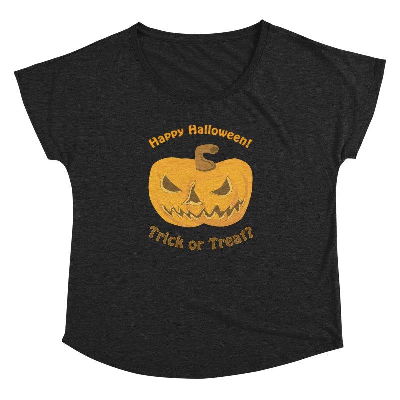 Happy Halloween Pumpkin Women's Dolman Scoop Neck by Logo Gear & Logo Wear