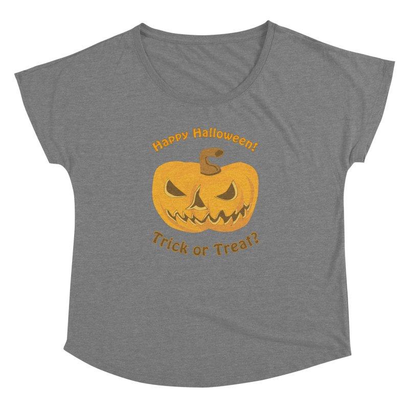 Happy Halloween Pumpkin Women's Dolman by Logo Gear & Logo Wear