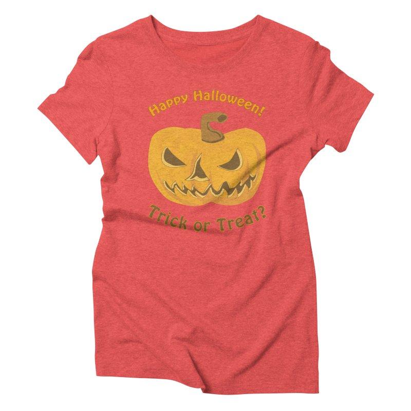 Happy Halloween Pumpkin Women's Triblend T-Shirt by Logo Gear & Logo Wear