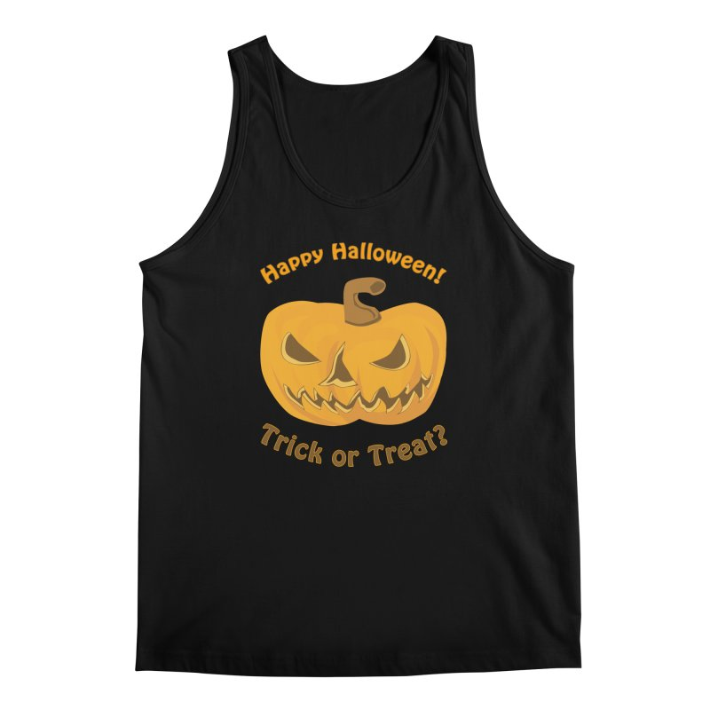 Happy Halloween Pumpkin Men's Regular Tank by Logo Gear & Logo Wear