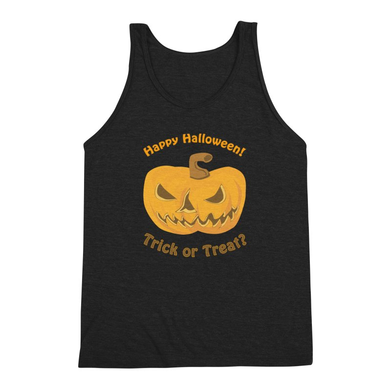 Happy Halloween Pumpkin Men's Triblend Tank by Logo Gear & Logo Wear