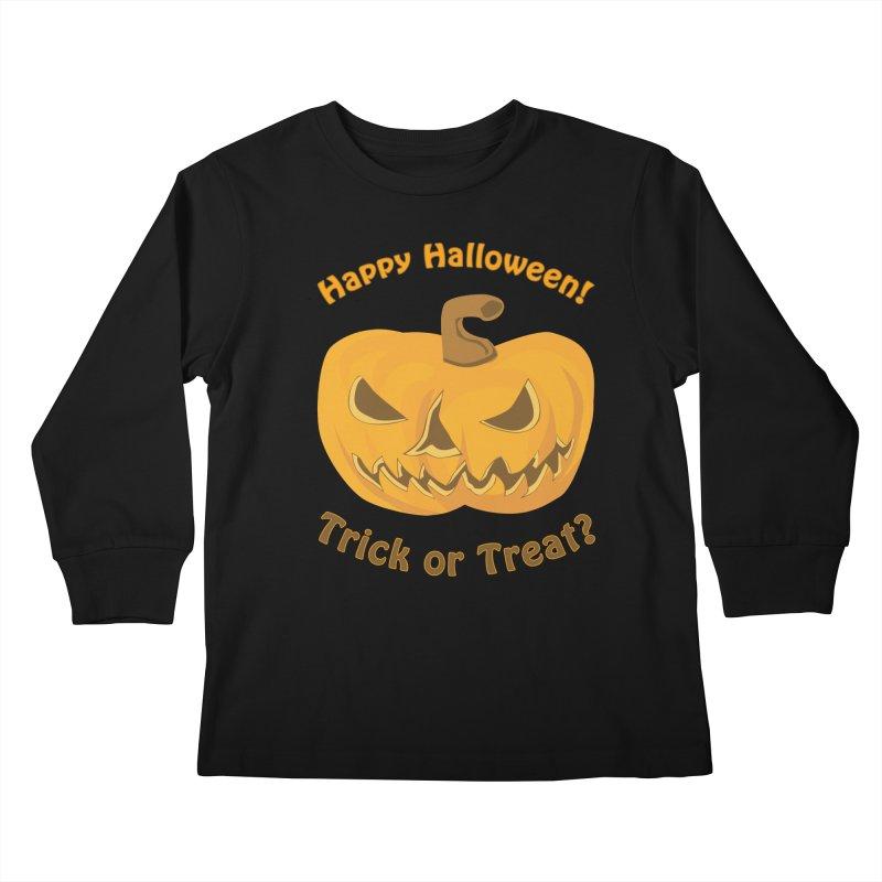 Happy Halloween Pumpkin Kids Longsleeve T-Shirt by Logo Gear & Logo Wear
