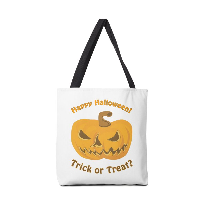 Happy Halloween Pumpkin Accessories Tote Bag Bag by Logo Gear & Logo Wear