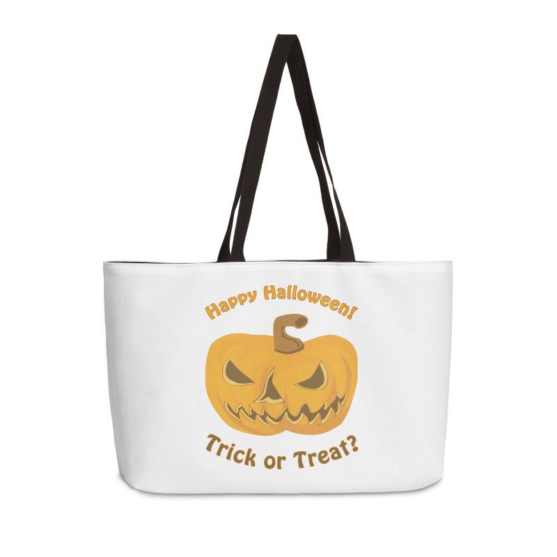 Happy Halloween Pumpkin Accessories Weekender Bag Bag by Logo Gear & Logo Wear