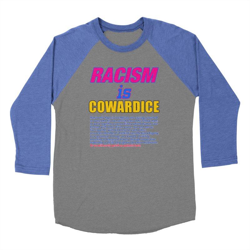 Racism is Cowardice Women's Baseball Triblend Longsleeve T-Shirt by Logo Gear & Logo Wear