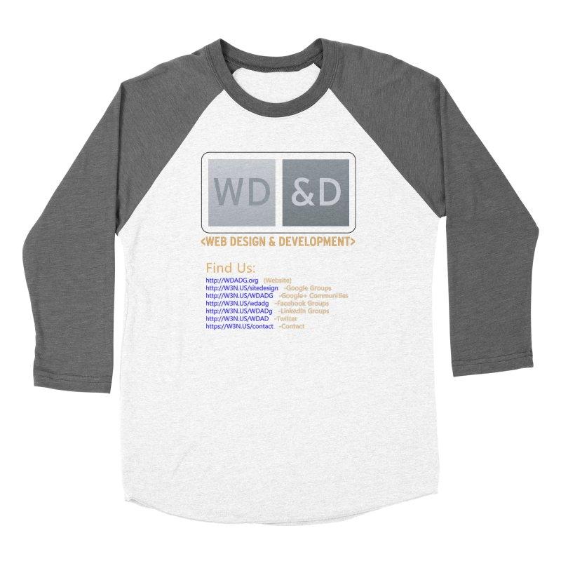 [WD&D] Web Design and Development group (SiteDesign) Men's Baseball Triblend Longsleeve T-Shirt by Logo Gear & Logo Wear