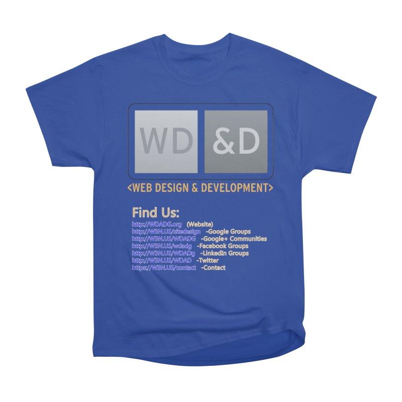 [WD&D] Web Design and Development group (SiteDesign) Men's Heavyweight T-Shirt by Logo Gear & Logo Wear