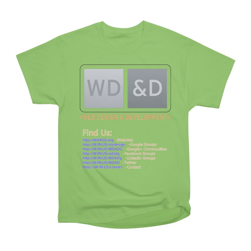 [WD&D] Web Design and Development group (SiteDesign) Men's Heavyweight T-Shirt by Logo Gear & Logo Wear