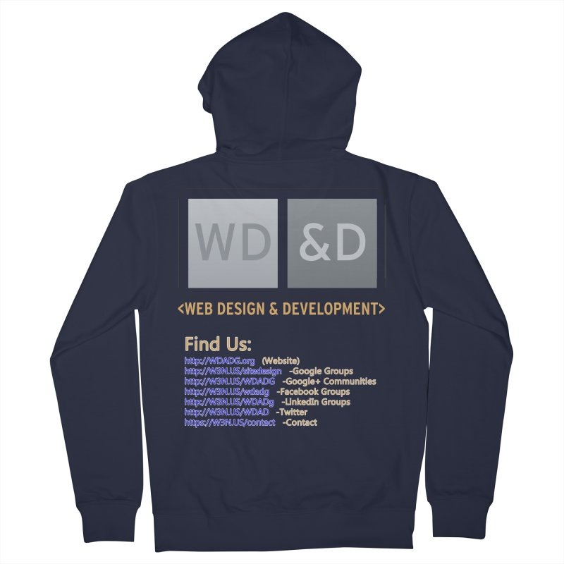 [WD&D] Web Design and Development group (SiteDesign) Men's French Terry Zip-Up Hoody by Logo Gear & Logo Wear