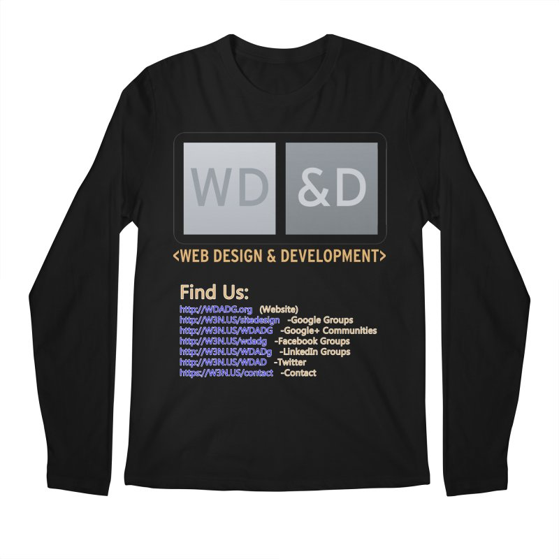 [WD&D] Web Design and Development group (SiteDesign) Men's Regular Longsleeve T-Shirt by Logo Gear & Logo Wear