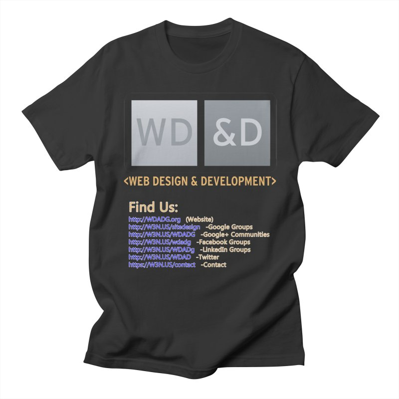 [WD&D] Web Design and Development group (SiteDesign) Men's Regular T-Shirt by Logo Gear & Logo Wear