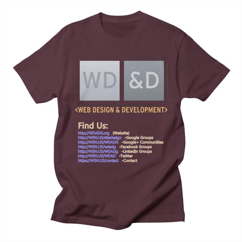 [WD&D] Web Design and Development group (SiteDesign) Men's Regular T-Shirt by Logo Gear & Logo Wear