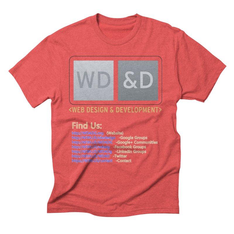 [WD&D] Web Design and Development group (SiteDesign) Men's Triblend T-Shirt by Logo Gear & Logo Wear