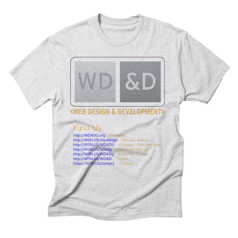 [WD&D] Web Design and Development group (SiteDesign) Men's Triblend T-Shirt by Logo Gear & Logo Wear