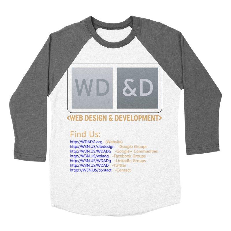 [WD&D] Web Design and Development group (SiteDesign) Women's Baseball Triblend Longsleeve T-Shirt by Logo Gear & Logo Wear