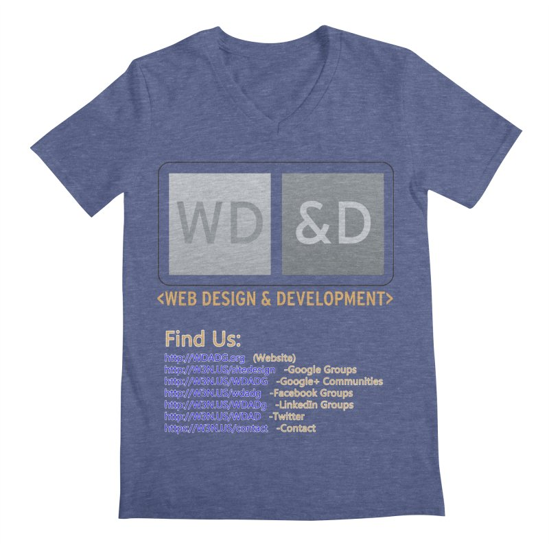 [WD&D] Web Design and Development group (SiteDesign) Men's Regular V-Neck by Logo Gear & Logo Wear