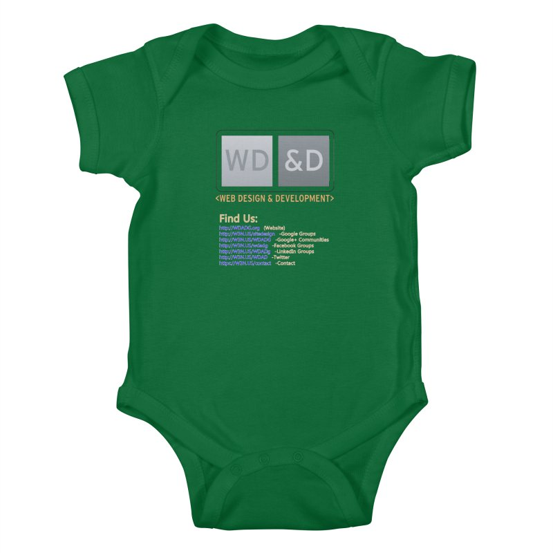 [WD&D] Web Design and Development group (SiteDesign) Kids Baby Bodysuit by Logo Gear & Logo Wear