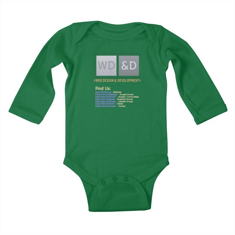 [WD&D] Web Design and Development group (SiteDesign) Kids Baby Longsleeve Bodysuit by Logo Gear & Logo Wear