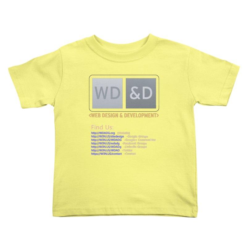 [WD&D] Web Design and Development group (SiteDesign) Kids Toddler T-Shirt by Logo Gear & Logo Wear
