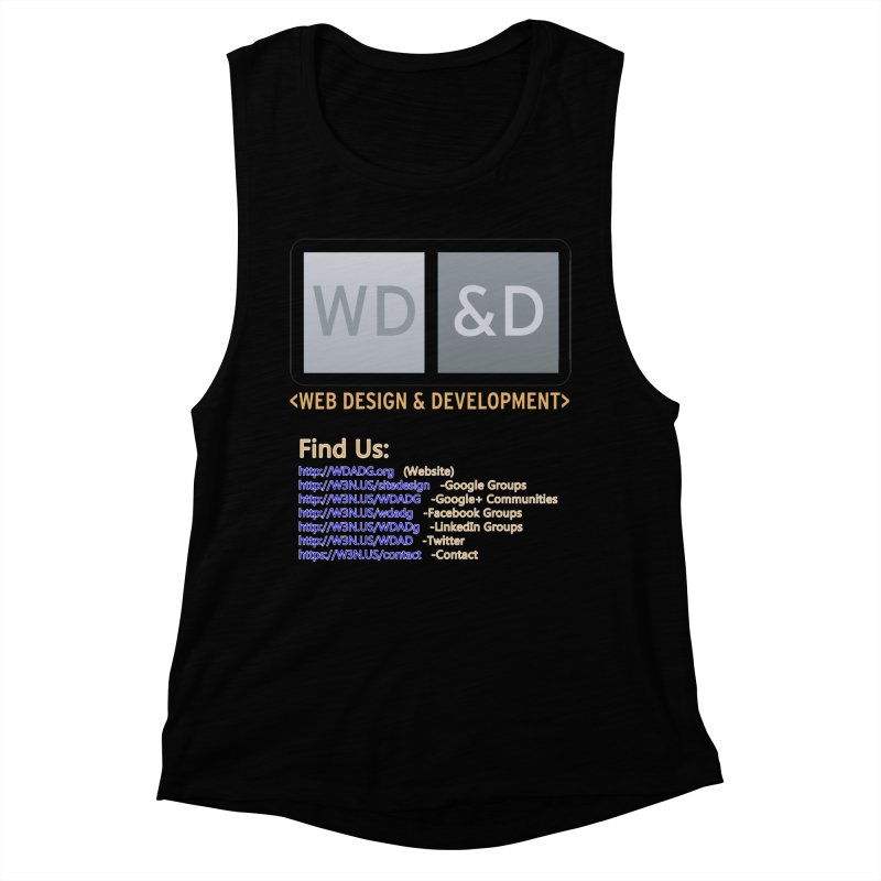 [WD&D] Web Design and Development group (SiteDesign) Women's Muscle Tank by Logo Gear & Logo Wear