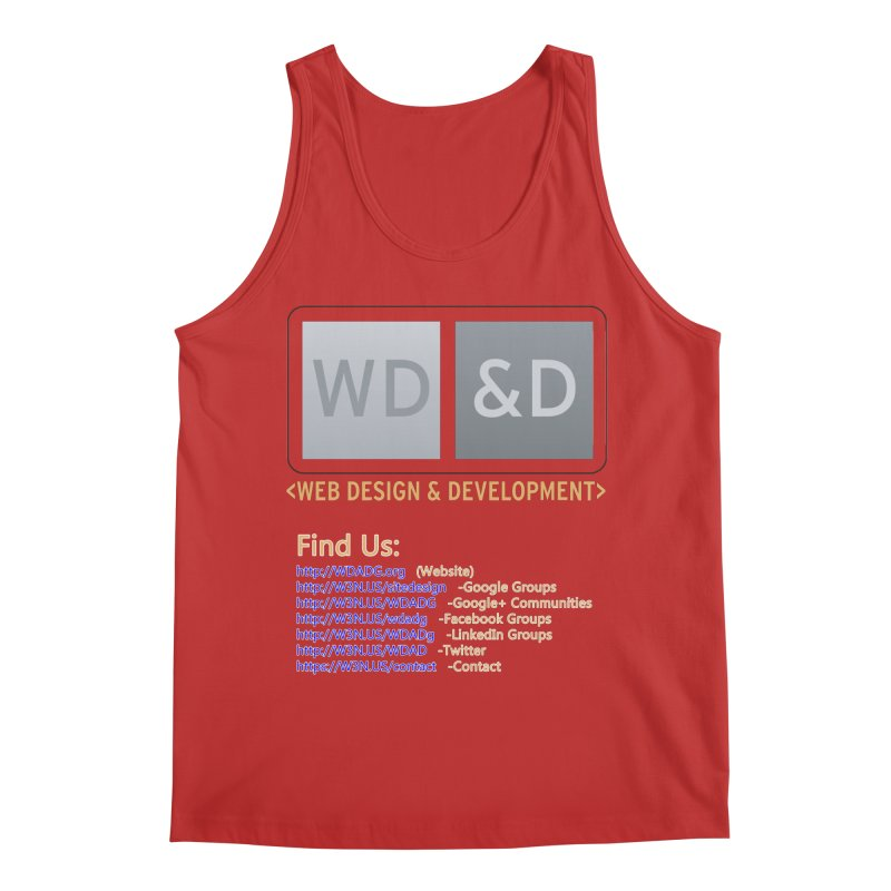 [WD&D] Web Design and Development group (SiteDesign) Men's Regular Tank by Logo Gear & Logo Wear