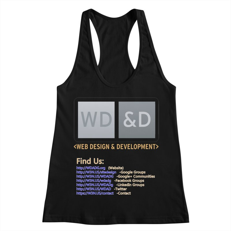 [WD&D] Web Design and Development group (SiteDesign) Women's Racerback Tank by Logo Gear & Logo Wear