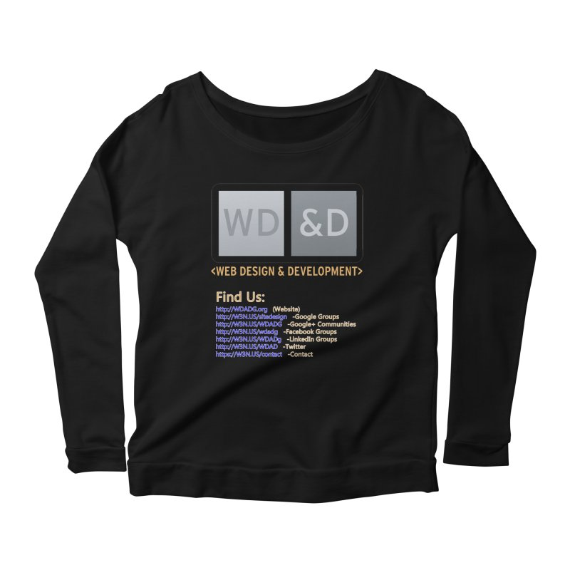 [WD&D] Web Design and Development group (SiteDesign) Women's Scoop Neck Longsleeve T-Shirt by Logo Gear & Logo Wear