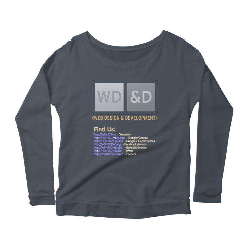 [WD&D] Web Design and Development group (SiteDesign) Women's Scoop Neck Longsleeve T-Shirt by Logo Gear & Logo Wear