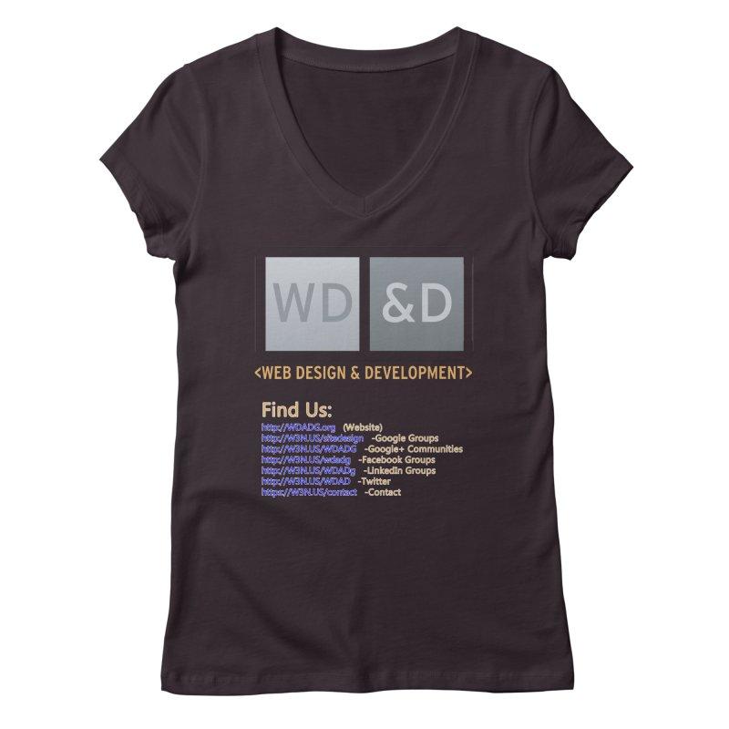 [WD&D] Web Design and Development group (SiteDesign) Women's Regular V-Neck by Logo Gear & Logo Wear
