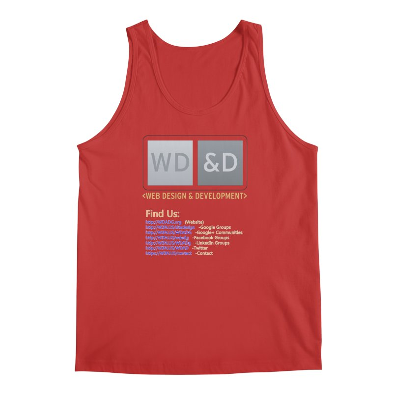 [WD&D] Web Design and Development group (SiteDesign) Men's Regular Tank by Logo Gear & Logo Wear