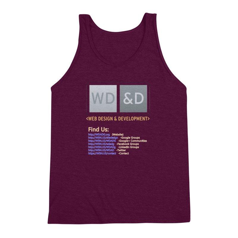 [WD&D] Web Design and Development group (SiteDesign) Men's Triblend Tank by Logo Gear & Logo Wear