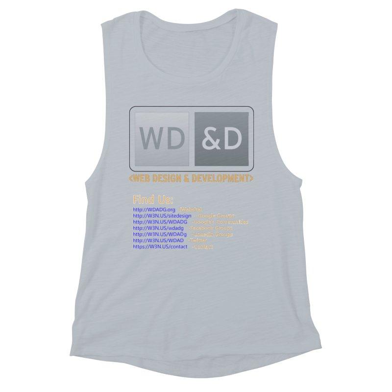 [WD&D] Web Design and Development group (SiteDesign) Women's Muscle Tank by Logo Gear & Logo Wear