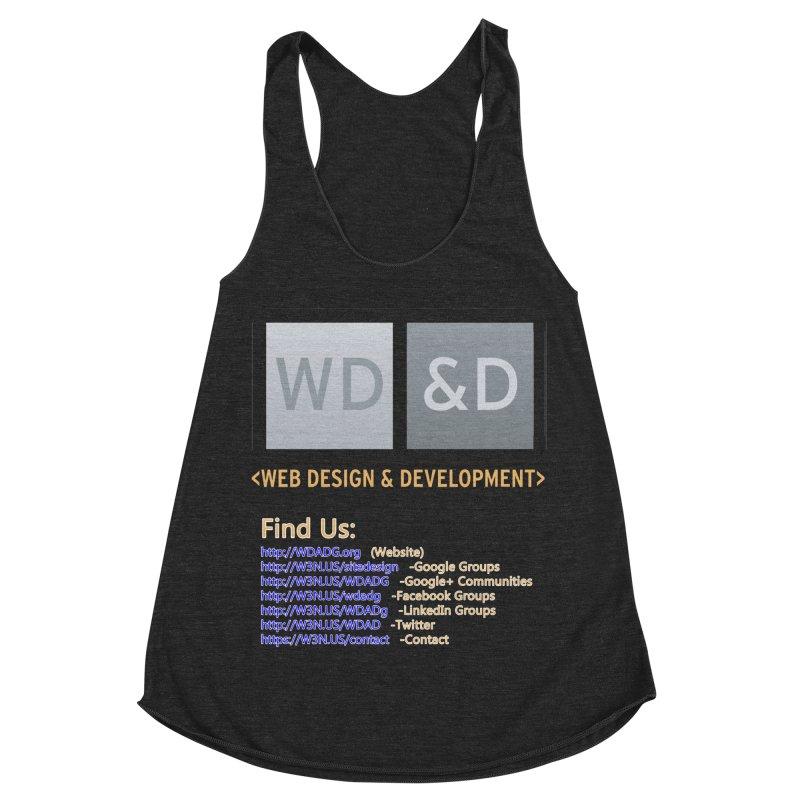 [WD&D] Web Design and Development group (SiteDesign) Women's Racerback Triblend Tank by Logo Gear & Logo Wear